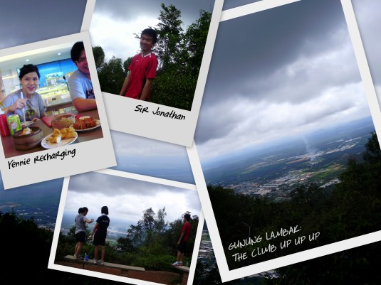 16th, Monday. Jonathan Si E Chen, seventeen, from Jaybee, made his way up to Kluang. Climbed Gunung Lambak, a first time for Yenn, Jun Kai (Laoda's cousin) and Jon. Especially proud of Yenn. She did it! After 17 years of living in Kluang! Hahha. And yeah. Seven hours of Kluang made Jon want more :P